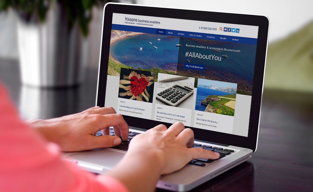 Hixons site design by Rebecca Holdstock