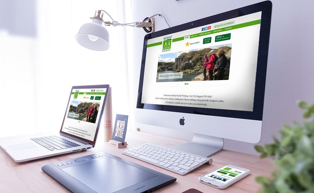 Bristol Nordic Walking website design and build