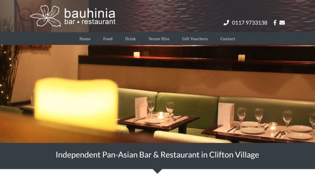 Bauhinia Bar Restaurant Website Design