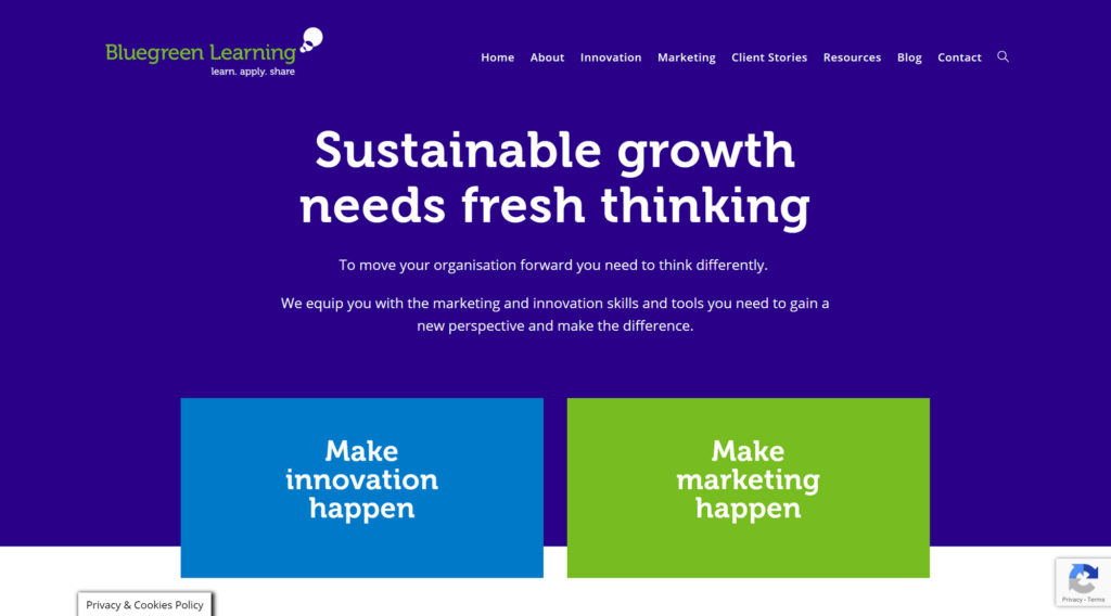 Web Design and Build for Bluegreen Learning