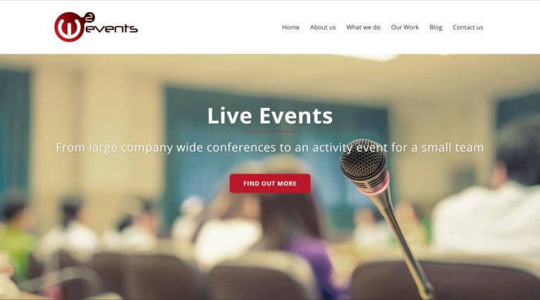 W2events Website Design & Build