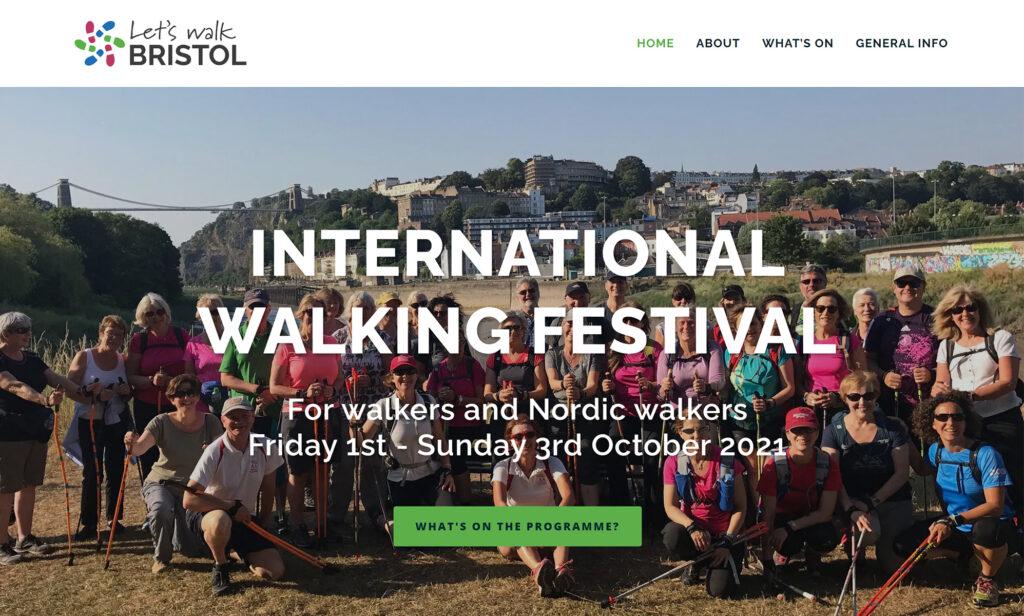 Web design & branding for Let's Walk Bristol