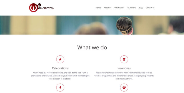 Web design for W2Events