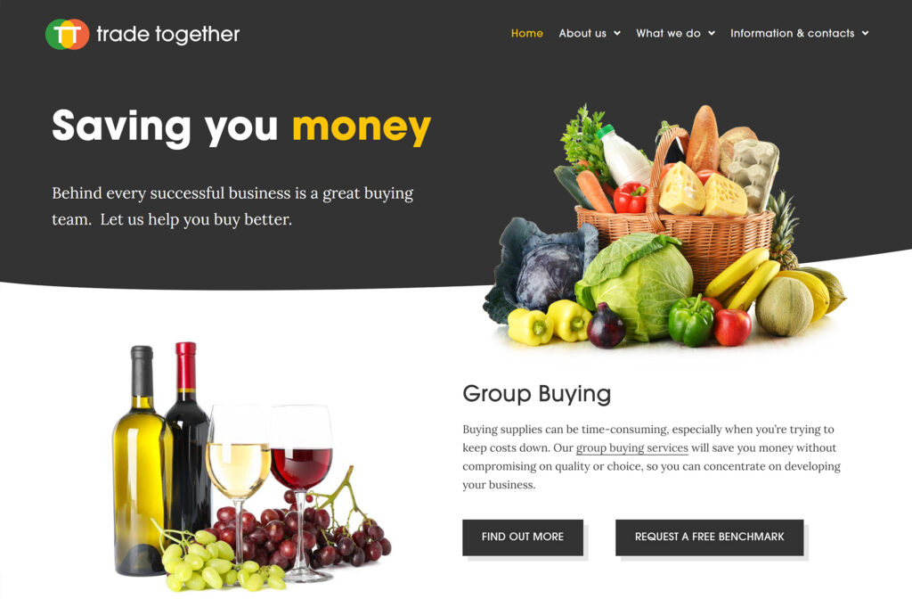 Web design for Trade Together